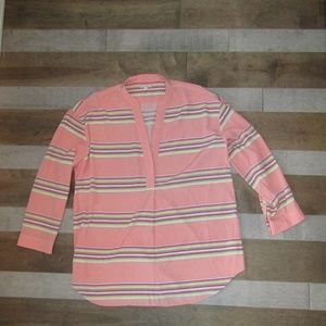 GAP Peachy Stripe Blouse